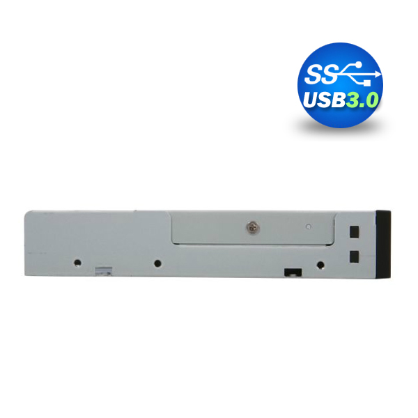 """3.5"""" USB 3.0 All in One Internal Card Reader Full Long Metal with Front USB Black"""