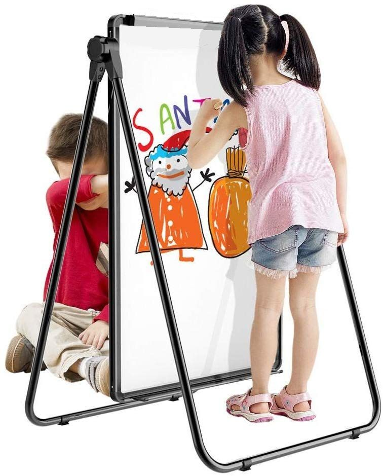 60 x 90cm Magnetic Whiteboard Double-Sided Writing Dry Erase Adjustable Stand