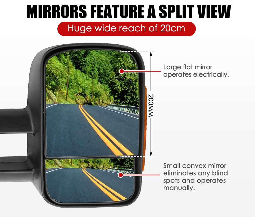 Pair Extendable Towing Mirrors Fit Holden COLORADO RG/COLORADO 7 2012+